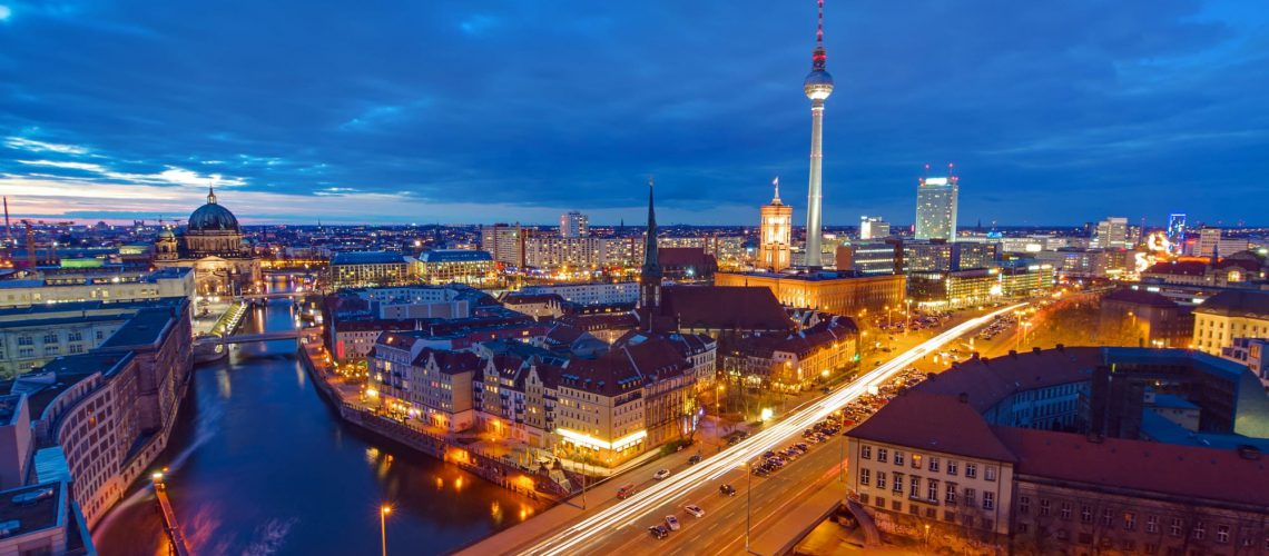 The center of Berlin at night